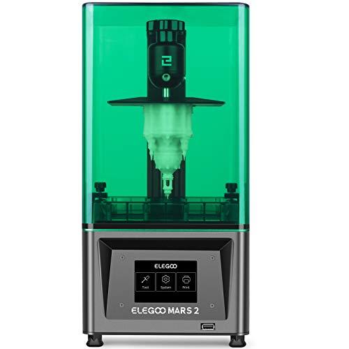 ELEGOO Mars 2 Mono MSLA 3D Drucker UV Lichthärtungs LCD Resin 3D Drucker mit 6 Zoll 2K Monochrom LCD, Druckgröße 129 x 80 x 150 mm / 5,1 x 3,1 x 5,9 Zoll