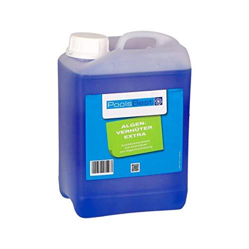 POOLSBEST® 3 L Algenverhüter extra hochkonzentriert & schaumfrei Algenmittel fürs Schwimmbad - sorgt für klares Wasser