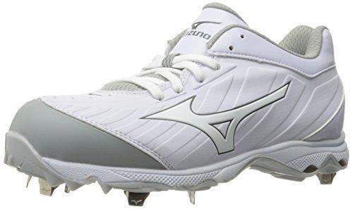 Mizuno Women's 9-Spike Advanced Sweep 3 Softball Shoe, White, 12 D US