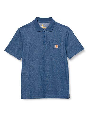 Carhartt Herren Contractors Work Pocket Original Fit K570 Polo Shirt, Dark Cobalt Blue Heather, S EU