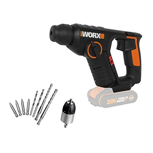 WORX WX394.91 18V (20V MAX) Cordless 1.5Kg Rotary Hammer Drill-Body Only
