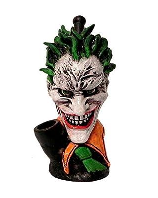 Big Head Evil Clown Smoking Pipe - Handmade Tobacco Pipe - Hand Pipe - Bowl - Collectibles - Green Hair - Fan Art - Villain - Character Pipe