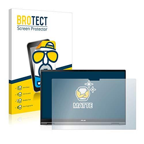 BROTECT Entspiegelungs-Schutzfolie kompatibel mit Asus ZenBook Flip 14 UX463FL Bildschirmschutz-Folie Matt, Anti-Reflex, Anti-Fingerprint