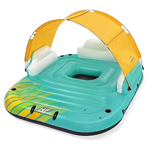 Bestway Hydro Force Sunny 5 Person Inflatable Large Floating Island Lake...