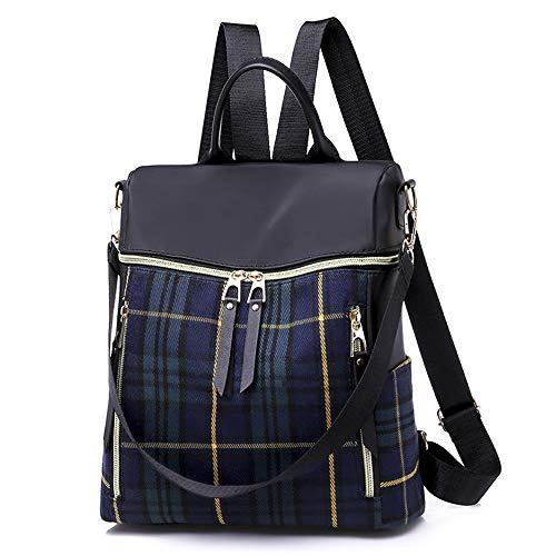 BAGZY Klein Damen Rucksack Handtasche Wasserdichte Nylon Schultaschen Anti Diebstahl Tagesrucksack Daypacks Schultertasche Umhängentasche Tasche Hobo für Alltag Büro Schule Ausflug Einkauf