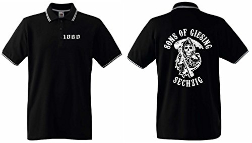 1860 Herren Polo Shirt Sons of Giesing Ultras SECHZIGschwarz-XXL