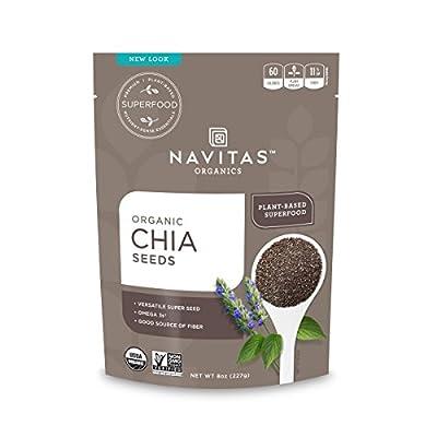 Navitas Organics Chia Seeds, 8 oz. Bag, 19 Servings — Organic, Non-GMO, Gluten-Free