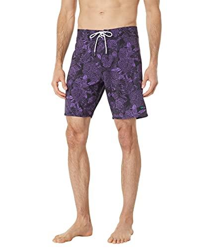 Oakley Men's Standard Dark Floral 18 RC Boardshorts, Purple Flower, 36