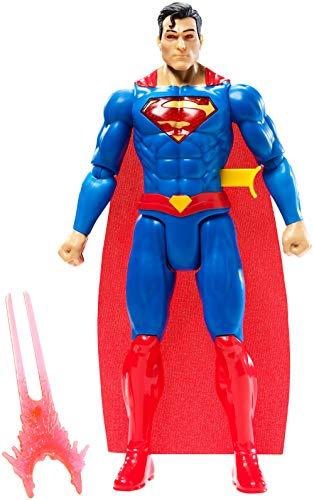 DC Justice League Figura de Acción Superman Luces y Sonidos, Juguetes Niños +4 años (Mattel GFF36)