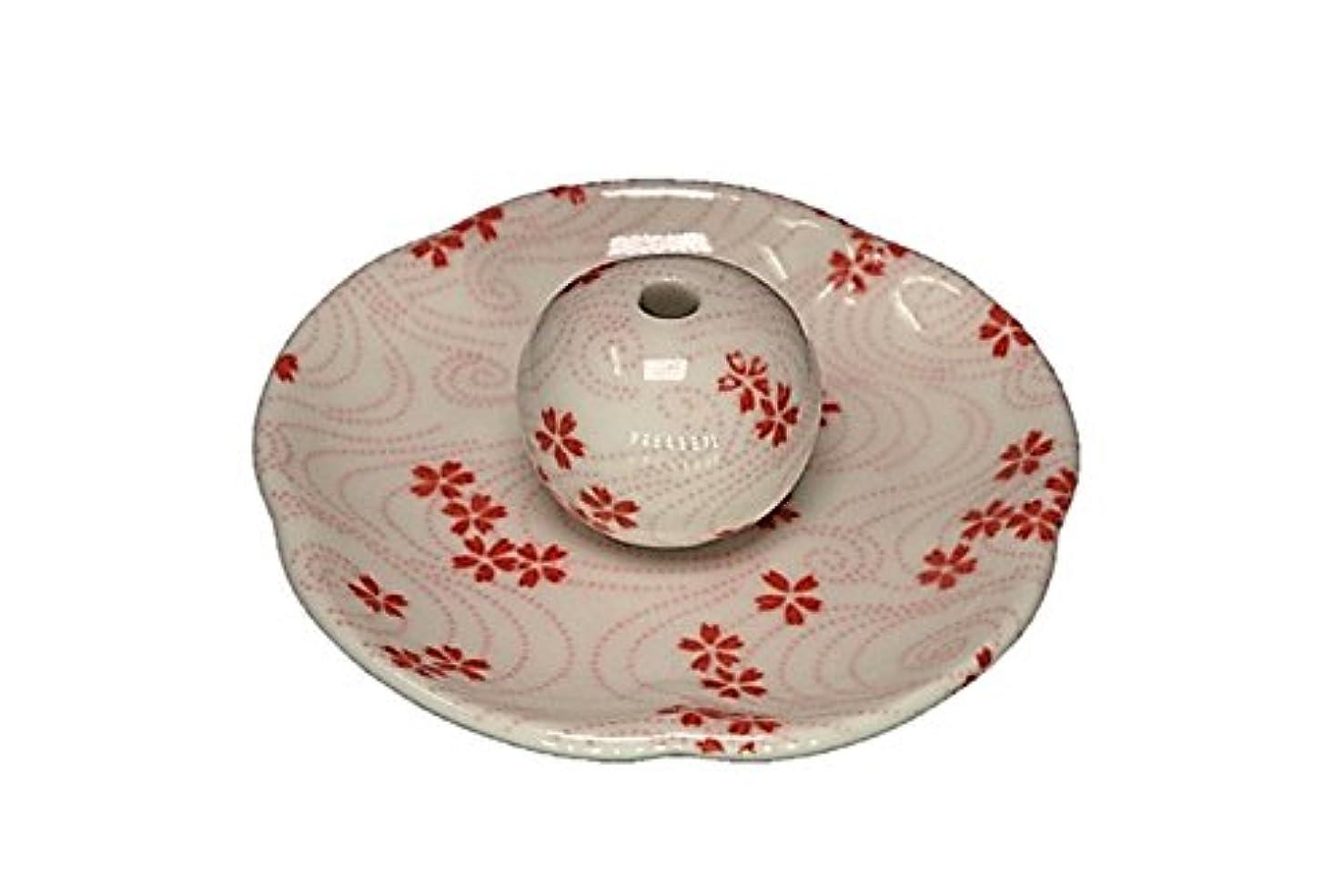 炎上ドレイン変更可能桜渦 花形香皿 お香立て 日本製 製造 直売品