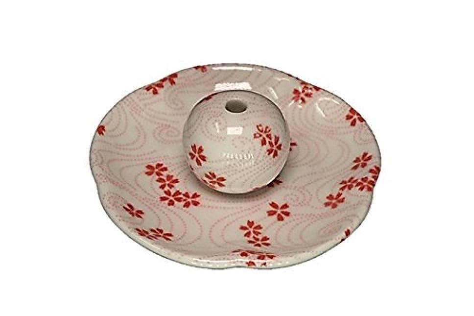 情緒的驚いたことに推進力桜渦 花形香皿 お香立て 日本製 製造 直売品