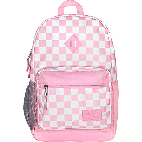 Dickies Study Hall Backpack, Pink/White Checker, One Size