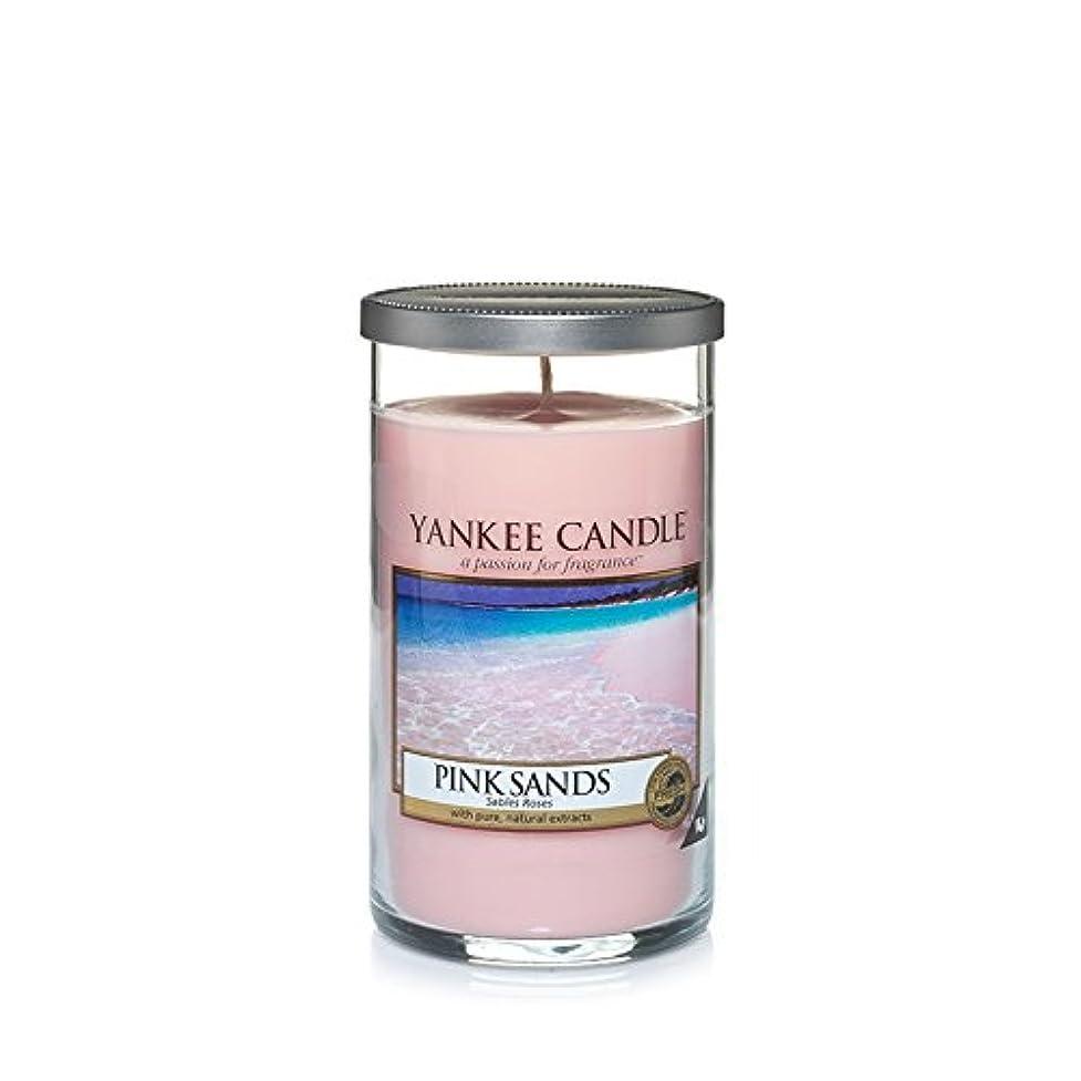 禁止する更新する神秘Yankee Candles Medium Pillar Candle - Pink Sands? (Pack of 6) - ヤンキーキャンドルメディアピラーキャンドル - ピンクの砂? (x6) [並行輸入品]