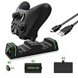 [Version Amélioré] Dual Station de Charge Xbox KINGTOP Chargeur Manette Xbox One avec 2 Batteries Rechargeables de 1200mAh et...