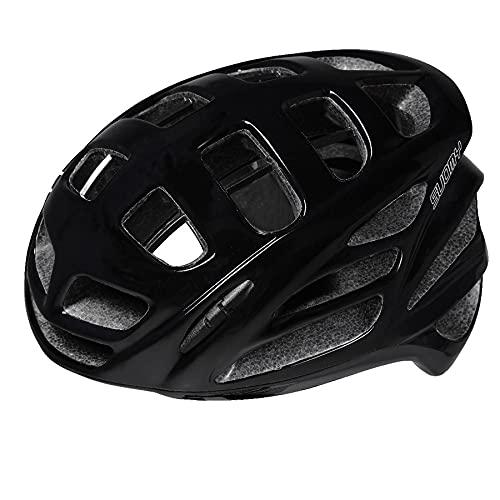 Suomy First Gun, casco de ciclismo por bicicleta de carreras, skateboard, ajustable, unisex, sistema de seguridad 'SMART STRAP', certificado CE, Negro, talla M (54-58CM)
