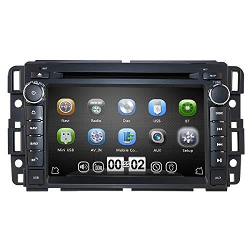 hizpo Car Stereo DVD Player for GMC Chevy Silverado 1500 2012 GMC Sierra 2011 2010 7 inch Quad Core Double Din in Dash Touchscreen FM/AM Radio Receiver Navigation Bluetooth…