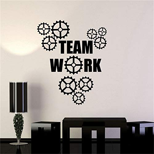 Gears Office Ating Business Team Living Muursticker 39.62x49.53 cm