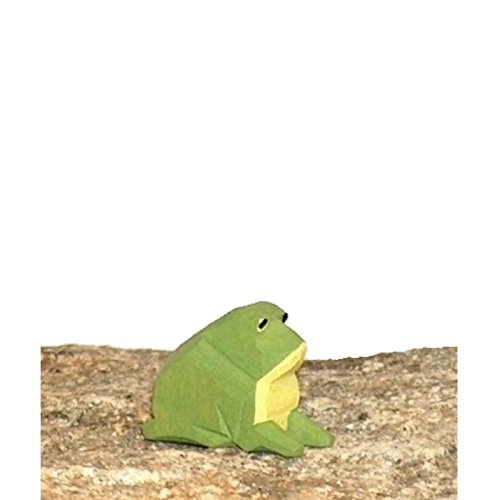 Lotte Sievers-Hahn Frosch mit Baumwollbeutel Krippenfigur