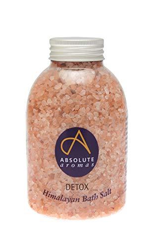 Absolute Aromas Sels de Bain Detox 625g - Sel Rose Naturel de l'Himalaya infusé avec des Huiles Essentielles 100% Pures de Bois de Cèdre, Pamplemousse, Géranium et Genièvre