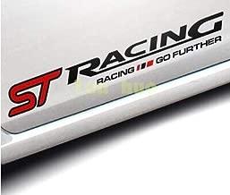 FashLady Caso para Ford Focus Focus 2 3 Mondeo Fiesta rolet Cruze Mazda ST Racing Pegatina en el Coche Que Labra los Accesorios del Coche: Negro
