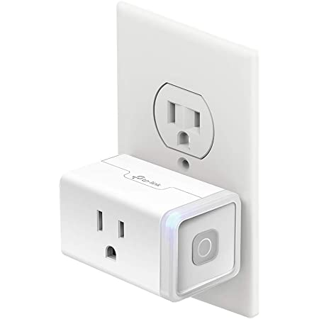 Kasa Smart Plug HS103, Smart Home Wi-Fi Outlet Works with Alexa, Echo, Google Home &IFTTT, No Hub Required, Remote Control, 15 Amp, UL Certified,1-Pack