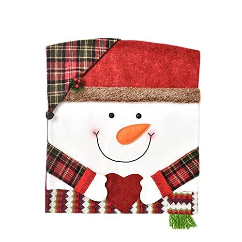 Serie De Navidad Funda para Silla Navidad Que Brilla Intensamente Iluminado Papá Noel Muñeco De Nieve Funda para Silla Funda para Taburete Funda para Silla Hotel para El Hogar Decoración para Escena