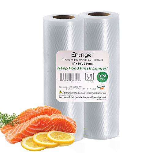 "Entrige Vacuum Sealer Bags for Food, 8"" x 50"