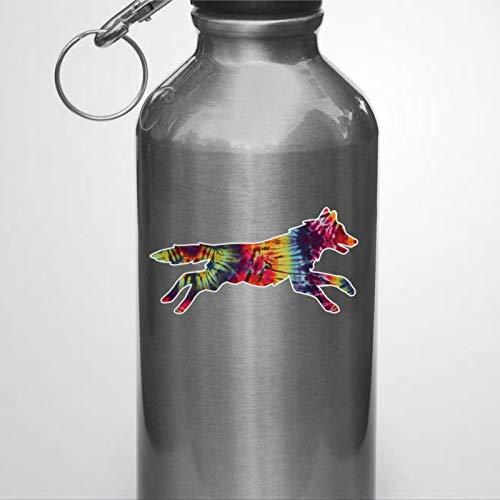 Vinilo adhesivo reutilizable para botella de agua con tinte de arco iris, calcomanía de vinilo troquelado para portátil