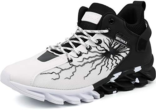 BRONAX Herren Hohe Top Turnschuhe Sportschuhe für Männer Jungen Jung Sneaker SchuheTurnschuh Laufschuhe Walkingschuhe Tennisschuhe Joggingschuhe Zumba Outdoor Schwarz Weiß größe 42 EU (43 Asien)