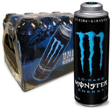 MEGA MONSTER ENERGY, LO-CARB, 24 fl. oz. (Pack of 12 Cans)
