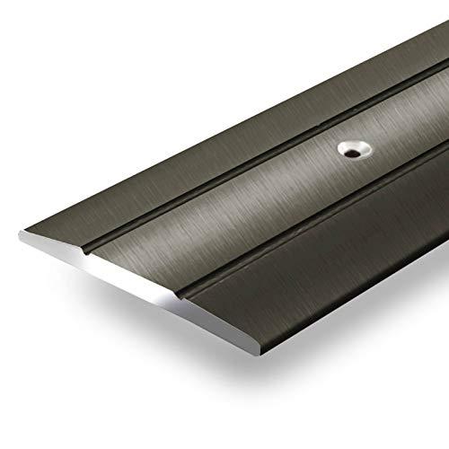 Alu Übergangsprofil Firm | C Form | vorgebohrte Abdeckleiste zum Schrauben | Breite 36 mm | eloxiert Bronze | 90 cm