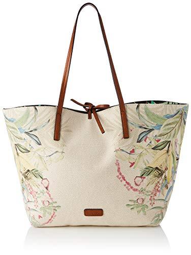Desigual Fabric Shopping Bag, Bolsa de la Compra para Mujer, Multicolor (Floreado), U