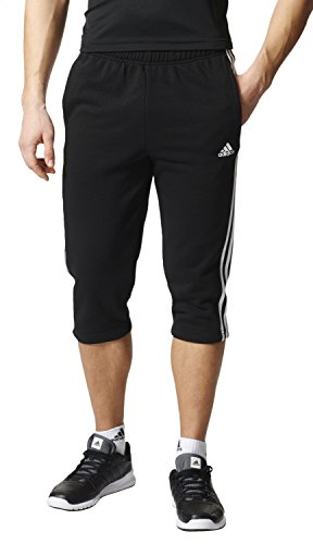 adidas Herren Essentials 3S 3/4 French Terry Pant Hose, Black/White, S