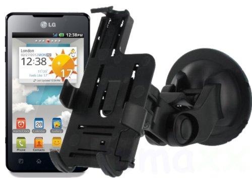 tomaxx LG Electronics P720 Optimus 3D Max KFZ Halterung Autohalterung / Holder passt auch mit Tasche