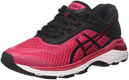 Asics Gt-2000 6, Zapatillas de Running Mujer, Rosa (Bright Roseblackwhite 2190), 45 EU