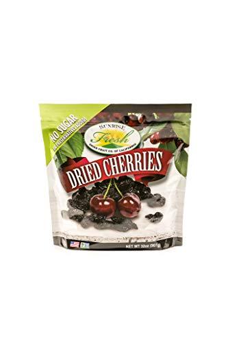 Dried Dark Sweet Cherries, 32oz Bag, No Added Sugar, Sunrise Fresh Dried Fruit Co.