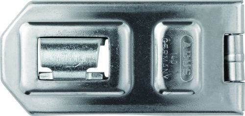 ABUS Diskus® Überfalle 140/120 - Vorrichtung für Vorhängeschlösser - für einschlagende Türen - 05315 - Level 8 - Silberfarben