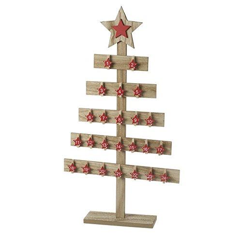 Heaven Sends - Calendario dell'avvento a forma di albero in legno con mollette
