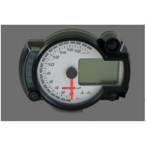 Tachometer KOSO Digital Cockpit RX2N Plus, 0-20000 RPM, Display Weiß
