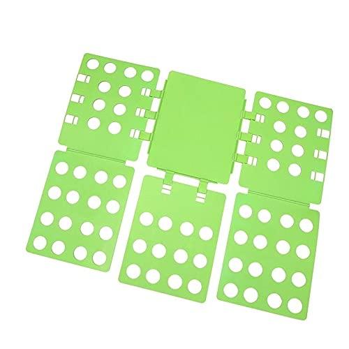 BIZS Camisa Placa Plegable T Shirts Carpeta Ropa Duradera Plástico Lavandería Carpetas Plegables (Color : Verde)
