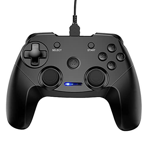 CHEREEKI Controller PC, PS3 Controller Gaming Joystick Gamepad Controller con Doppio Shock Ricaricabile per Playstation 3 e PC Windows 10 XP 7 8 Android TV/TV Box, Plug And Play