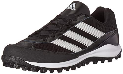 adidas Unisex Turf Hog LX Low Football Shoe, Black/Run White/Run White, 7.5 US Men