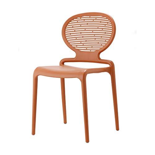 SCAB DESIGN Stuhl Modell Lavinia aus Tecnopolymer, Set mit 4 und 6 Stück, erhältlich in 4 Farben – für Innen- und Außenbereich (Terracotta)