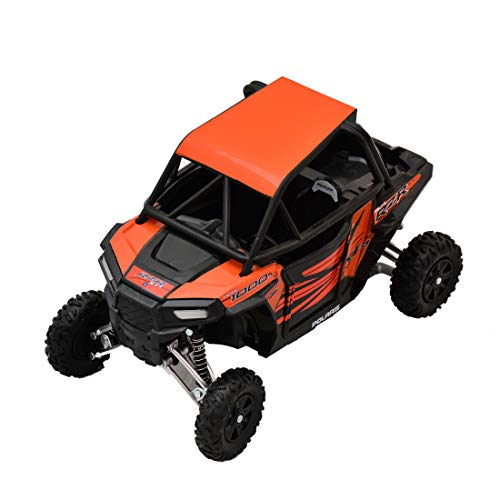 Newray Polaris RZR XP 1000 Bike ATV Dirt Rider 1/18 Scale Pre-Built Model Vehicle Orange