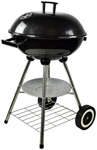 ACTIVA - Barbecue a sfera Atlanta, con coperchio a carbonella, colore: nero