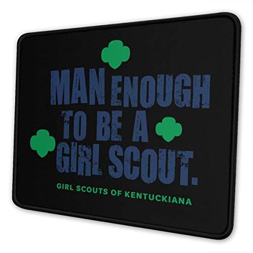 Mau Mat,Mann-Genug, Um Ein Girl Scout Gaming-Mauspad Zu Sein, Langlebige, Komfortable, Rutschfeste Gaming-Pads Für Heimcomputer-Dekor,18x22CM