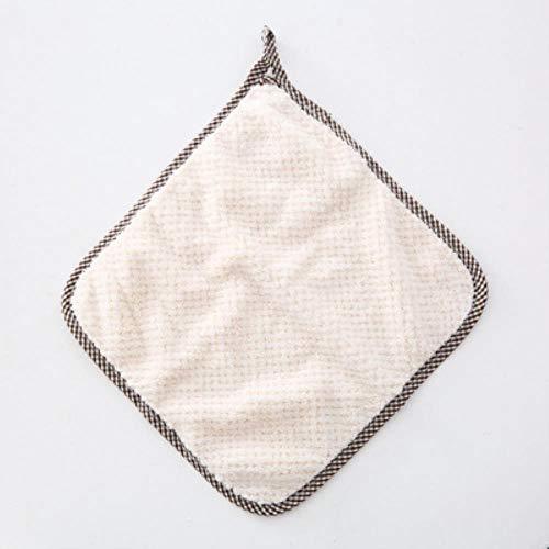 Xmj paño de limpieza de cocina toalla de cocina colgante toalla de cocina toalla de trapo herramienta de trapo, lechoso