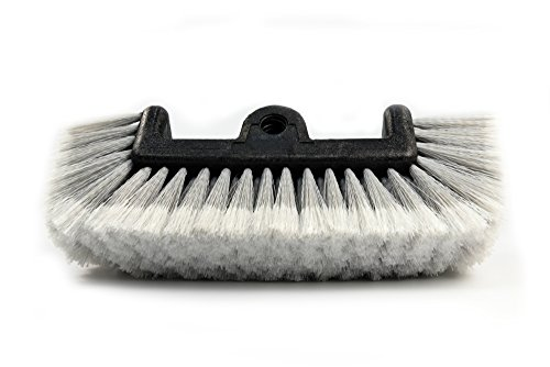 """CARCAREZ 12"""" Car Wash Brush with Soft Bristle for Auto RV Truck Boat Camper Exterior Washing Cleaning, Grey"""