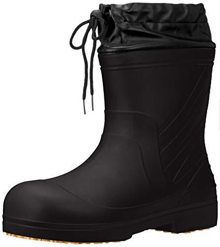 [キタ] 超軽量EVAラバーブーツカバー付き長靴 喜多 作業靴 長靴 レインシューズ 超軽量 EVAラバーショートブーツカバー付き KR-030 ブラック 25.5~26.0 cm 3E