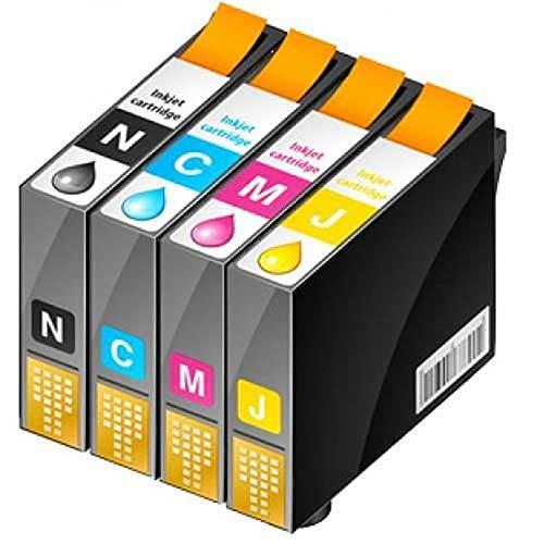 Office Prime - Pack de 4 cartuchos compatibles con Epson T18XL